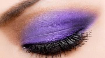 fioletowy makijaz